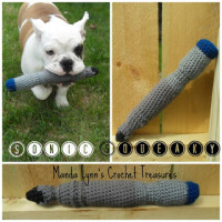 Sonic Squeaky Dog Toy ~ Manda Proell - MandaLynn's Crochet Treasues