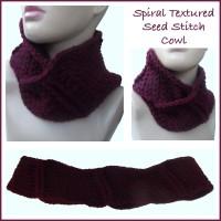 Spiral Textured Seed Stitch Cowl ~ CrochetN'Crafts