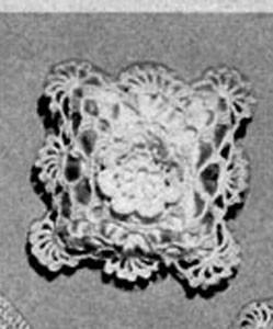 Square Sachet ~ Free Vintage Crochet