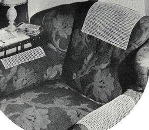 Mesh Lace Chair Set ~ Free Vintage Crochet