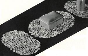 Shell Stitch Oval Set ~ Free Vintage Crochet