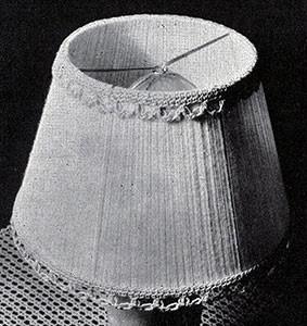 Lamp Shade ~ Free Vintage Crochet