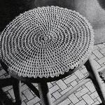 Stool Cover ~ Free Vintage Crochet
