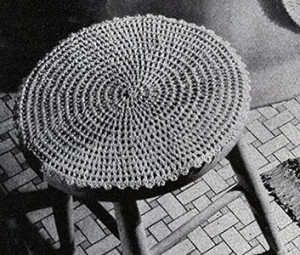 Stool Cover ~ Free Vintage Crochet