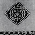Reticella Motif for Towel ~ Free Vintage Crochet