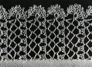 Lattice Lace Edging ~ Free Vintage Crochet