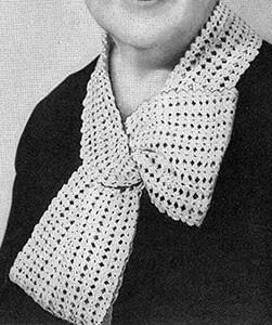 Shell Mesh Collar ~ Free Vintage Crochet