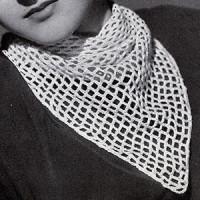 Triangular Chain Mesh Scarf ~ Free Vintage Crochet