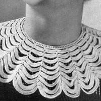 Scalloped Collar ~ Free Vintage Crochet