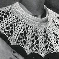 Cameo Collar Pattern #292 ~ Free Vintage Crochet