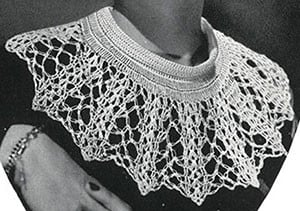 Cameo Collar Pattern #292 ~ Free Vintage Crochet