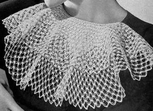 Jabot in Knot Stitch ~ Free Vintage Crochet