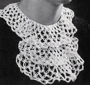 Knot Stitch Collar ~ Free Vintage Crochet