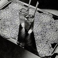 Sundial Tray Mat ~ Free Vintage Crochet