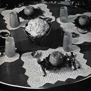 Placemats Pattern No 2808 ~ Free Vintage Crochet
