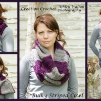 Bulky Striped Cowl ~ Cre8tion Crochet