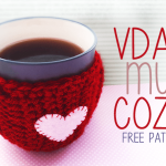 Valentine's Day Mug Cozy ~ Rebecca Langford – Little Monkeys Crochet
