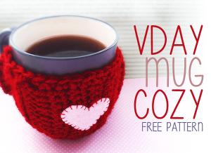 Valentine's Day Mug Cozy ~ Rebecca Langford - Little Monkeys Crochet