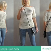 White Crochet Sweater ~ Jane Green - Beautiful Crochet Stuff
