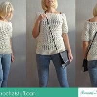 White Crochet Sweater ~ Jane Green – Beautiful Crochet Stuff
