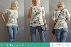 White Crochet Sweater ~ Jane Green - Beautiful Crochet Stuff