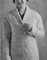 Woman's Sweater Pattern ~ Free Vintage Crochet