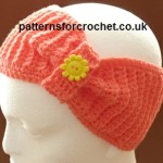 Bow Headband ~ Patterns For Crochet
