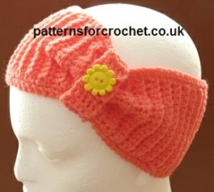 Bow Headband ~ Patterns For Crochet