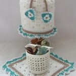Toilet Tissue Cover and Mat ~ Patterns For Crochet