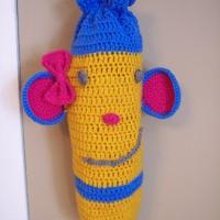 Monkey Plastic Bag Dispenser ~ Stitch11