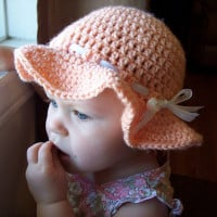 Peach Happy Sun Hat ~ Stitch11