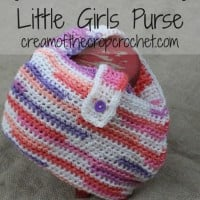 Little Girls Purse ~ Cream Of The Crop Crochet