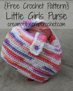 Little Girls Purse by Cream Of The Crop Crochet designed for CrochetN'Crafts