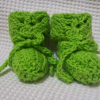 The Shy Butterfly Baby Booties ~ Cats-Rockin-Crochet