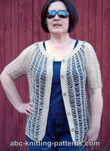 Sunny Days Chain Cardigan ~ ABC Knitting Patterns
