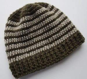 Crochet Ribbed Hat ~ My Recycled Bags