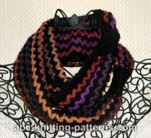 Two-Yarn Infinity Scarf or Cowl ~ ABC Knitting Patterns