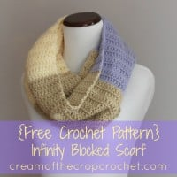 Infinity Blocked Scarf ~ Cream Of The Crop Crochet