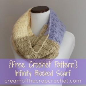 Infinity Blocked Scarf ~ Cream Of The Crop Crochet