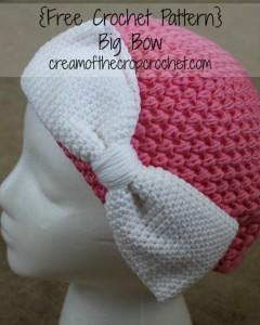 Big Bow ~ Cream Of The Crop Crochet