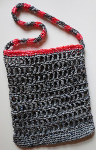 Grey and Pink Plarn Recycled Bag ~ My Recycled Bags