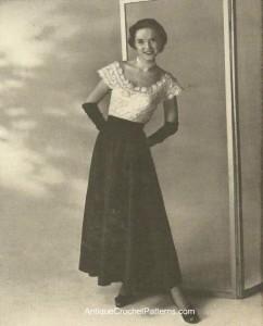 Lace Evening Blouse ~ Antique Crochet Patterns