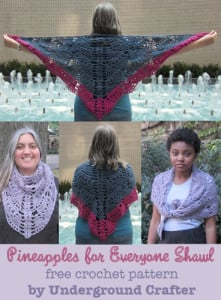 Pineapples for Everyone Shawl ~ Marie Segares - Underground Crafter
