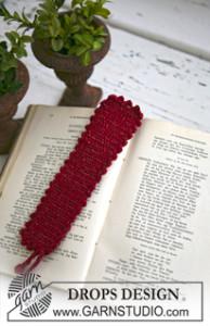 Christmas Bookmark ~ DROPS Design