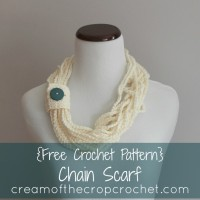 Chain Scarf ~ Cream Of The Crop Crochet