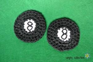 8-Ball Applique or Coaster ~ Celina Lane - Simply Collectible