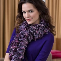 Into the Wild Scarf ~ Bendy Carter – Red Heart