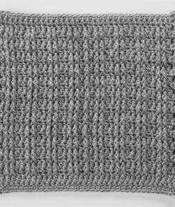 Front Post Treble Crochet Square for Checkerboard Textures Throw ~ Katherine Eng - Red Heart