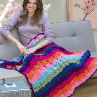 Rainbow View Throw ~ Roseanna Beck - Red Heart
