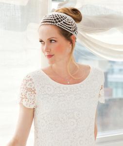Wedding Headdress ~ Helen Sweet - Red Heart